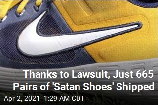 Thanks to Lawsuit, Just 665 Pairs of 'Satan Shoes' Shipped