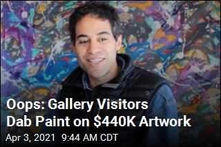 Gallery Visitors Mistakenly Paint On $440K Artwork
