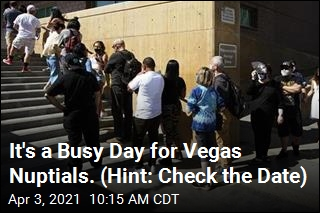 It's a Busy Day for Vegas Nuptials. (Hint: Check the Date)