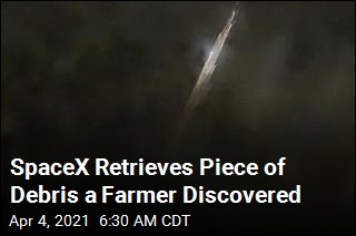 Farmer Discovers a Piece of SpaceX Rocket Debris