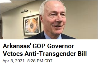 GOP Governor Vetoes Anti-Transgender Bill