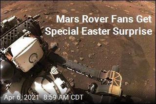 Mars Rover Fans Get Special Easter Surprise