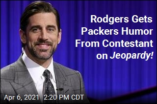 Rodgers Is Served a Packers Joke on Jeopardy!