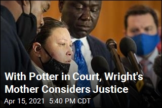 With Potter in Court, Wright's Mother Considers Justice