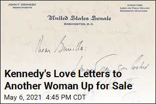 Kennedy's Love Letters to Another Woman Up for Sale