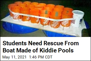 Students Unwisely Set Sail in Boat Made From Kiddie Pools
