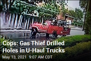 Cops: Gas Thief Drilled Holes in U-Haul Trucks