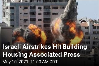 Israeli Airstrikes Hit Building Housing Associated Press