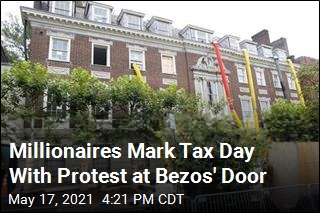 Millionaires Take Tax Protest to Jeff Bezos' Front Doors