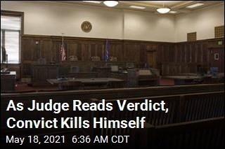 As Judge Reads Verdict, Convict Slits His Throat