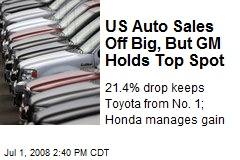 US Auto Sales Off Big, But GM Holds Top Spot