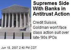 Supremes Side With Banks in Antitrust Action