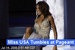 Miss USA Tumbles at Pageant