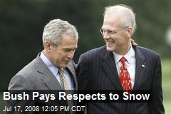 Bush Pays Respects to Snow