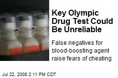 Key Olympic Drug Test Could Be Unreliable