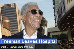 Freeman Leaves Hospital
