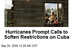 Hurricanes Prompt Calls to Soften Restrictions on Cuba