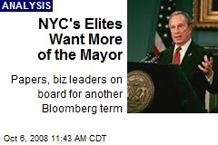 NYC's Elites Want More of the Mayor