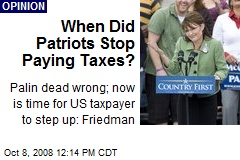 When Did Patriots Stop Paying Taxes?
