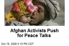 Afghan Activists Push for Peace Talks