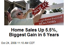 Home Sales Up 5.5%, Biggest Gain in 5 Years