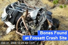 Bones Found at Fossett Crash Site