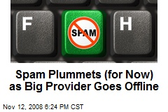 Spam Plummets (for Now) as Big Provider Goes Offline