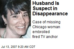 Husband Is Suspect in Disappearance