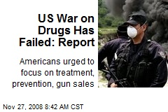 US War on Drugs Has Failed: Report