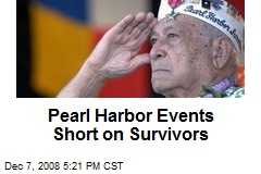 Pearl Harbor Events Short on Survivors