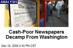 Cash-Poor Newspapers Decamp From Washington