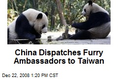 China Dispatches Furry Ambassadors to Taiwan