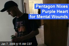 Pentagon Nixes Purple Heart for Mental Wounds