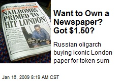 Want to Own a Newspaper? Got $1.50?