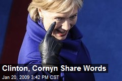 Clinton, Cornyn Share Words