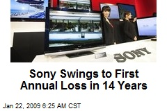 Sony Swings to First Annual Loss in 14 Years