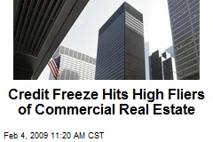 Credit Freeze Hits High Fliers of Commercial Real Estate