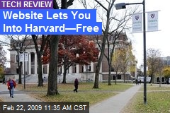 Website Lets You Into Harvard—Free