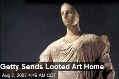 Getty Sends Looted Art Home