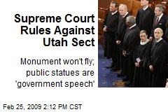 Supreme Court Rules Against Utah Sect