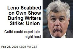 Leno Scabbed on Own Show During Writers Strike: Union