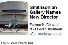 Smithsonian Gallery Names New Director
