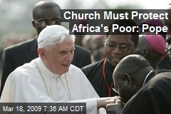 Church Must Protect Africa's Poor: Pope