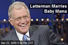 Letterman Marries Baby Mama