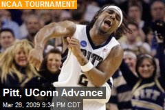 Pitt, UConn Advance