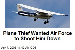 Plane Thief Wanted Air Force to Shoot Him Down