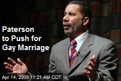 Paterson to Push for Gay Marriage