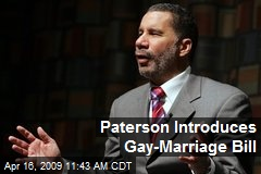 Paterson Introduces Gay-Marriage Bill
