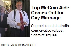 Top McCain Aide Comes Out for Gay Marriage