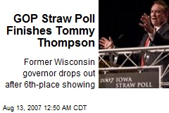 GOP Straw Poll Finishes Tommy Thompson